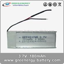 special battery 3.7v 180mah li ion polymer battery