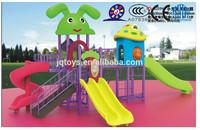 JQB2394kindergarten furniture Popular Kids Outdoor Plastic rabbit slide Playground Equipment Forest Tree House