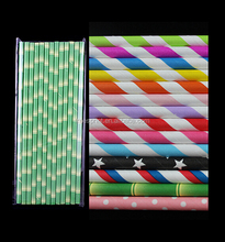 Wholesale colorful paper straws for wine