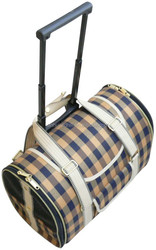 Classic style pet trolley bags