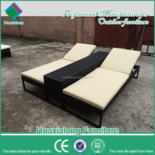 Wholesale rattan chairs used outdoor furniture garden sun chaise lounger set FWB 102 D