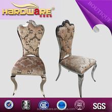 Surtidor de china marco de acero inoxidable de forro de tela silla