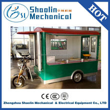 Multi-function tricycle mobile kiosk snack cart with hot sale