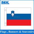 Serigrafía personalizada farbic poliéster bandera de eslovenia