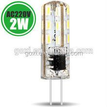 Low voltage DC12v G4 led lamp energy saving led light SMD3014 led bulb with 2 year warranty