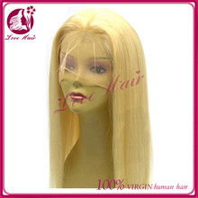 invisible hairline genesis brazilian hair full lace wig usual women like bleach blonde color thick virgin straight full lace wig