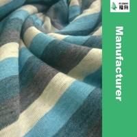 Cotton Polyester Yarn Dyed Striped Single Jersey Knit Fabric