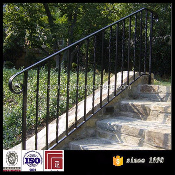 cheap price wrought iron stair railing outdoor wrought