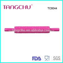 Palo rosa <span class=keywords><strong>pastel</strong></span> fondant pasta plastico en forma de corazon de Rolling Pin