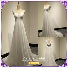 Modern buying wedding dresses from china Chiffon Beaded Woman Wedding Gown BD001