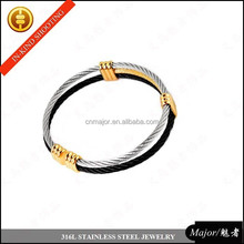 MJBA-042 latest design vogue three colors stainless steel bangle,hot selling sex bangle