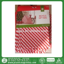 Christmas party decorations Christmas bike wrap bags plastic bicycle bags
