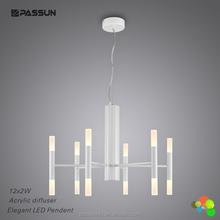 aluminium white painting led hanging light 36w led suspended light for restaurant lighting