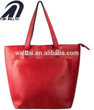 gran bolsillo de color rojo con ajuste de colores de la pu bolsa de la mujer