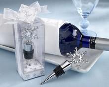 Wedding Wine Stopper/Silver Snow Wine Bottle Stopper Set Souvenirs