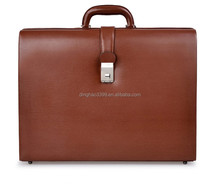 Dongguan manufacture 100% genuine leather business bag,pratical tote travel bag