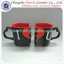 Personalized Ceramic Valentine's Day Gift For Lovers Heart Shape Couple Mug