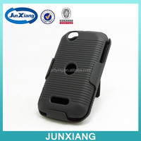 high quality new arrival holster combo phone case for Motorola I485 with kickstand & belt clip