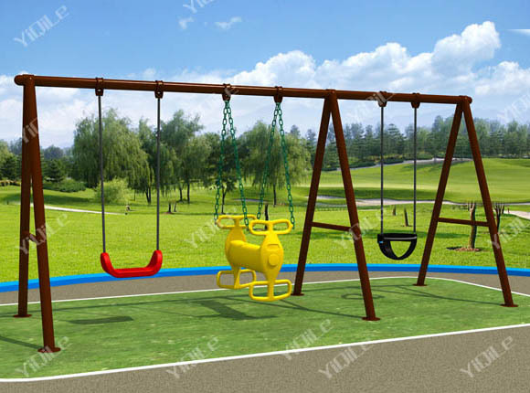 haute qualit forg swing de fer pour jardin pour enfants. Black Bedroom Furniture Sets. Home Design Ideas