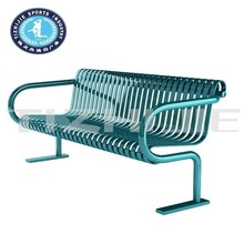 Power Coating Green Galvanized Steel Patio Bench For Parks