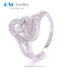 China Factory Direct Sale 925 Sterling Silver Jewelry Princess Crown Ring Crown Silver