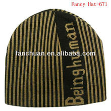 Promotional jacquard mens winter hat