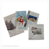 Handmade paper folding merry Christmas greeting card