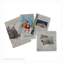 Handmade paper folding merry Christmas greeting card