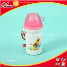 Screw up plastic BPA free cheap water bottles safety for kids