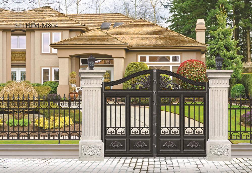 Luxury aluminum gate design customized sliding