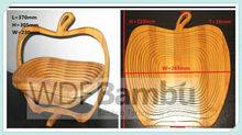 New Product for 2015 Moso Bamboo Apple Collapsible Folding Fruit Basket