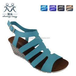 2015 fuzzy ladies high heels fancy suede footwear fashion sandal shoes for women