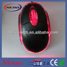 Factory sale 3D cheap mouse black optical mouse with wire for promotion with different colors