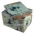 china fábrica de la venta caliente de marilyn monroe de impresión de la caja de cartón caja de almacenaje plegable caja de papel