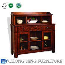 Foshan hemeu dining timber room furniture wood buffet table cabinet