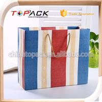 In stock free sample stripe color gift paper bag