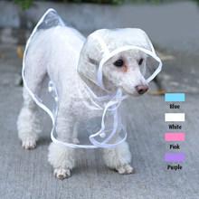 transparent clear EVA pet dog raincoat in stock