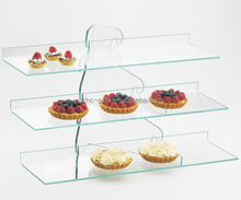 3 tier desktop acrylic cake display stand with factory price