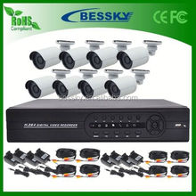 Alibaba China Supplier outdoor dome camera wall mount 4ch analog hd dvr kit analog system