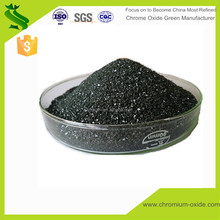 Black guanule chrome oxide green fused grade series chromium oxide for special stell