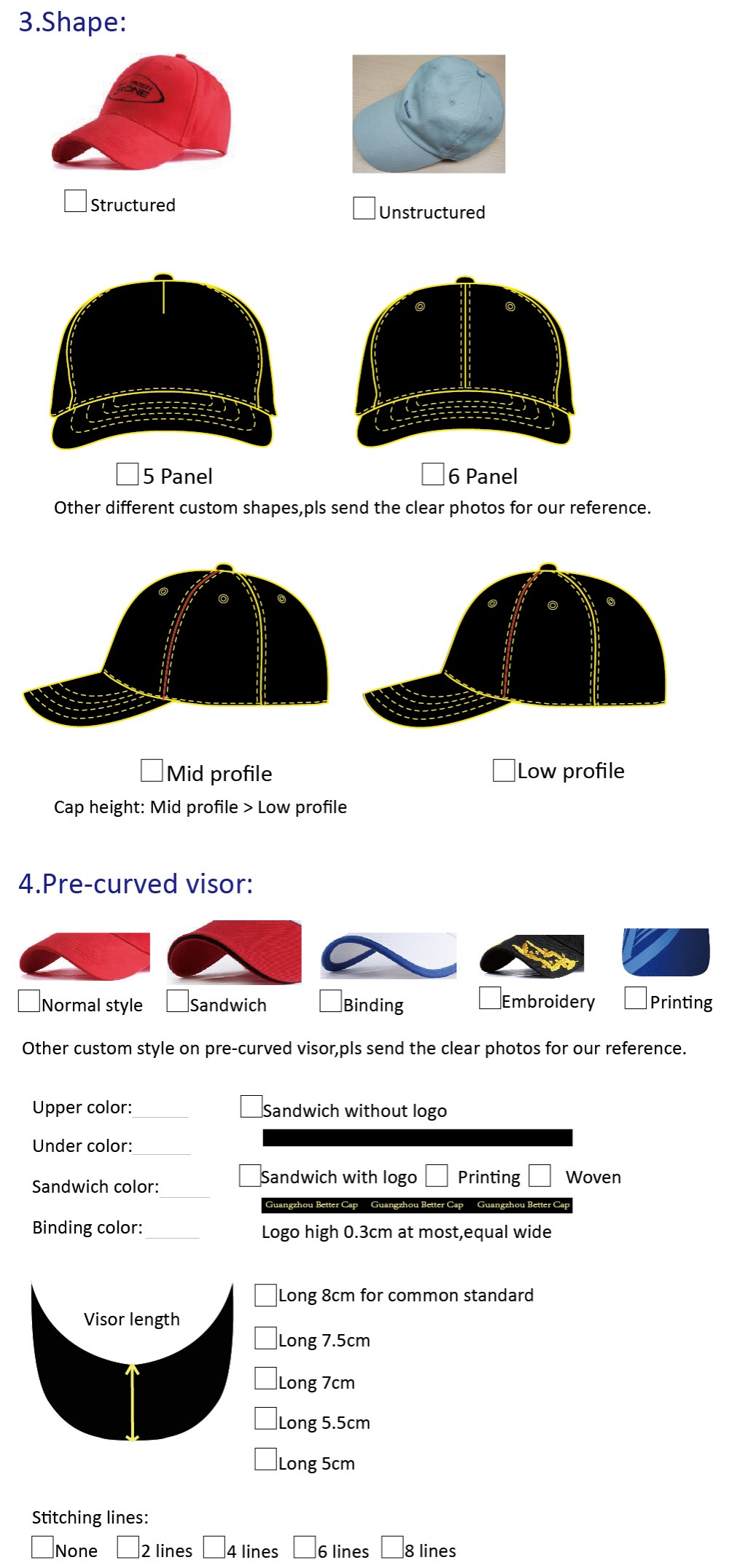 cap choices 2