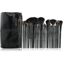 Black 2013 China Best Professional Makeup Brush Set Wood Handle Custom Logo Makeup Brushes/Brush 32 piece