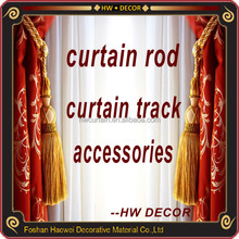 Home decor flexible curtain rod end caps metal wall mount brackets