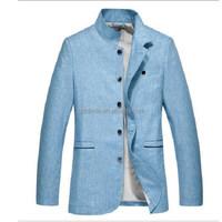 Hot wholesale suit men dress sample,track suit men with hemp fabric,colorful men suit in summer