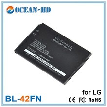 Replacement mobile phone accessories battery for LG BL-42FN