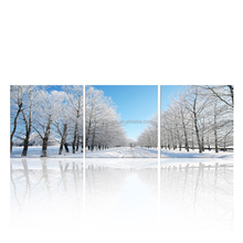 Winter Scenery Canvas Printing Art/Road Stretched Canvas Painting/Modern Wall Art For Decor