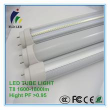 HOT!!! high lumen LED tube light T8 18w t8 yellow led tube