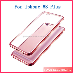 For Iphone 6S Plus TPU Case, Light Weight Electroplate Plating TPU Silicone Bumper Case For Iphone 6s Plus