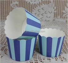 Double Blue mini muffin cupcake wrapper paper baking cups bulk molds for baking cupcake decoration