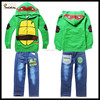 Turtles pajamas childrens boutique clothing pajama long Sleeve tshirt+ trousers